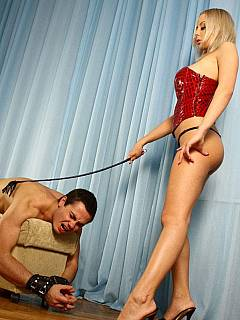 The most memorable moment of his entire life is when her was degraded by a world-famous mistress Mandy