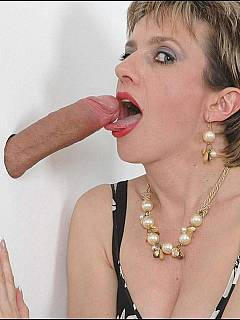 Leashed cuckold is taken to the gloryhole to have some cum from another male