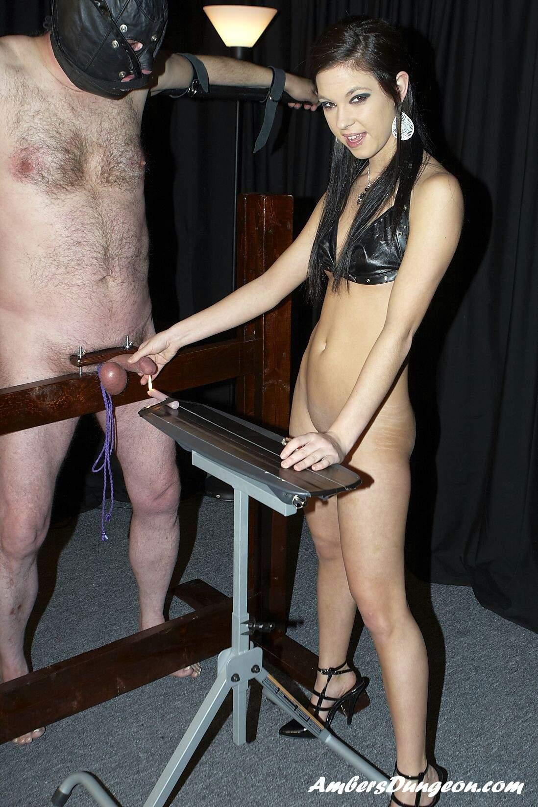 Naughty blonde tattooed spanking her ass 9