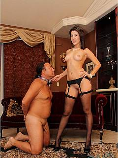 Missy Daniels keeps her husband in submission forcing him to worship her