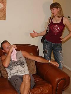 Couple enjoys femdom spanking on a weekly basis