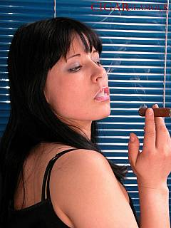 Would you like your wife to be dominant and smoke cigars like this babe?