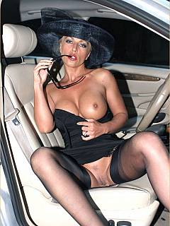 Horny slut is dressed up sexy and goes out to have dogging fun leaving cuckold husband home