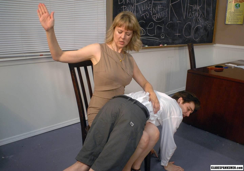 Teacher Bends Girl Student Over Desk And Spanks Her