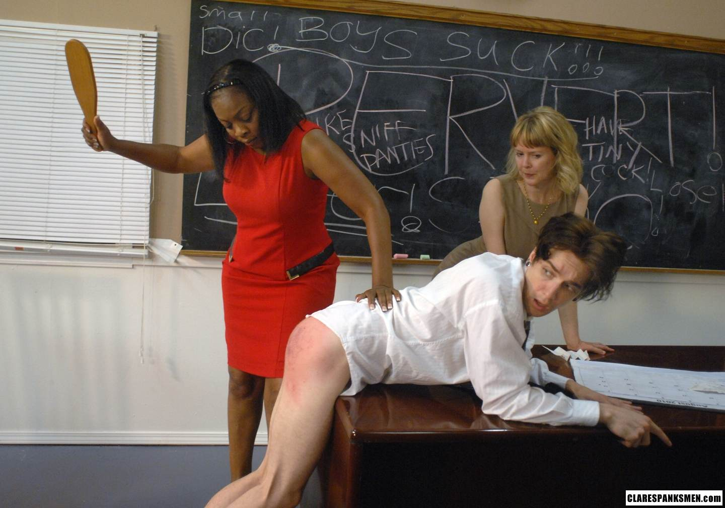 Spank front of the class