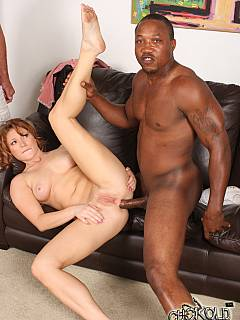 Worthless husband is taking home two black dudes and asking them to fuck his wife
