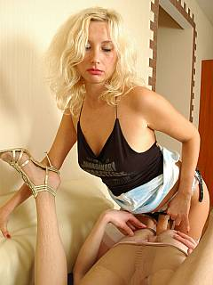 This blonde would never say NO when man is asking to bang his ass with with sex toy