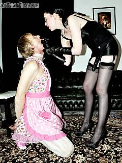 Lady in need of help: turned her hubby into a sissy maid