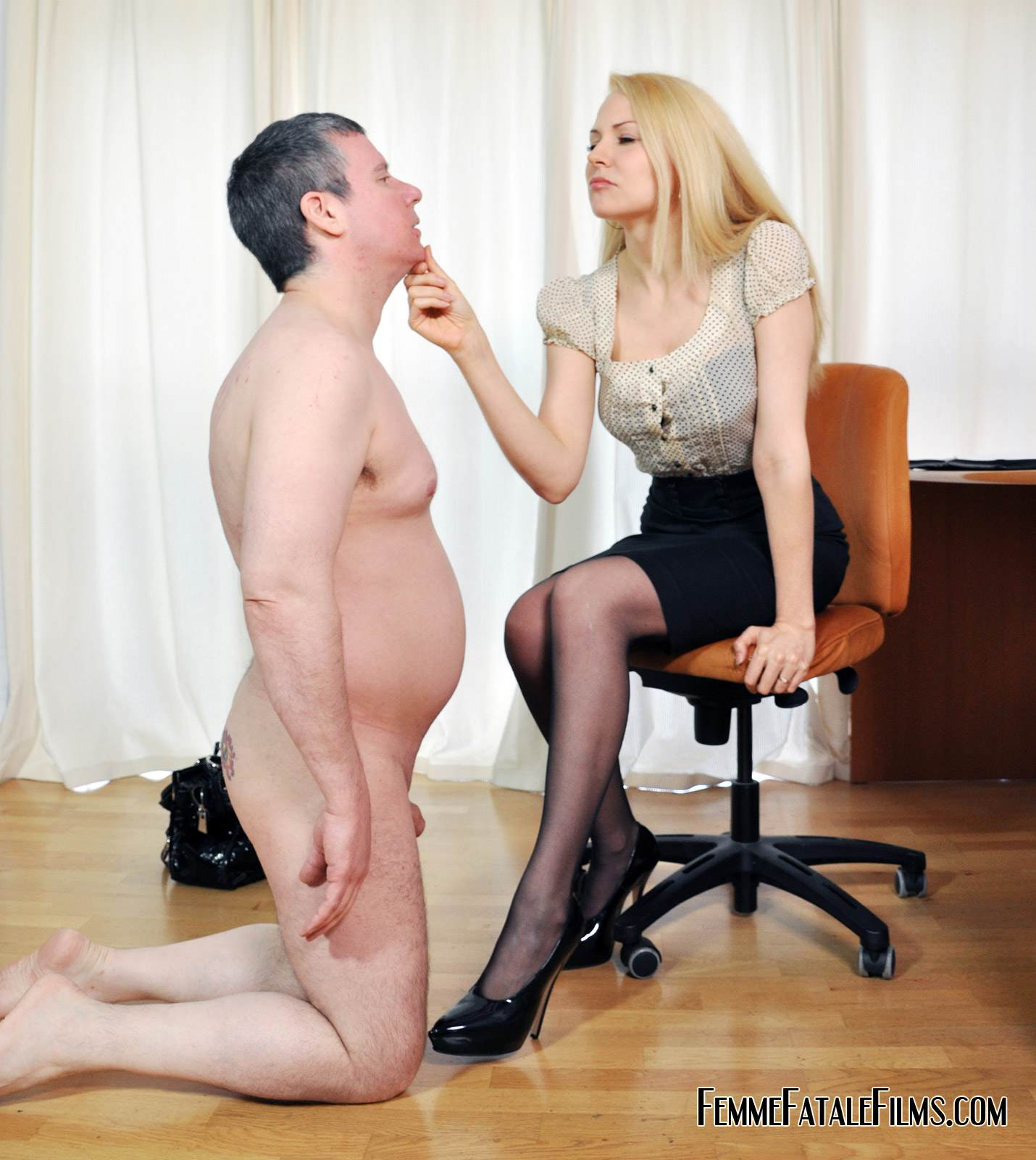 Picture #4 of Job interview ends up well for dominant secretary who spanks her future boss over the knee