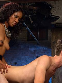 Interracial cuckolding: black woman found herself a new cock to fuck and she is forcing submissive hubby to join the action as fuckdoll