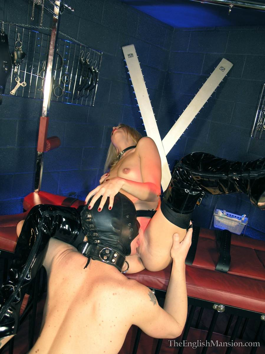 Picture #10 of Dominatrix is controlling a couple: male was caged but then allowed to get out and fuck the girl