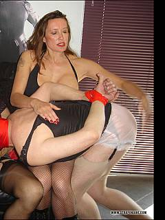 Welcome to the strap-on orgy where male sissy is turned into feminized whore and forced to fuck with every hole he has