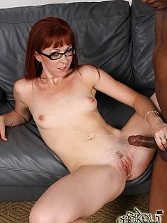 Sissy cuckold is happy for his girlfriend who managed to find a couple of black guys to fuck with