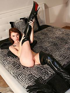 Redhead loves the feeling when male is teased and denied for hours and then finally allowed to cum all over her ass