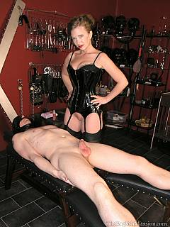 Slave is having time of his life when beautiful woman is facesitting him while stroking cock