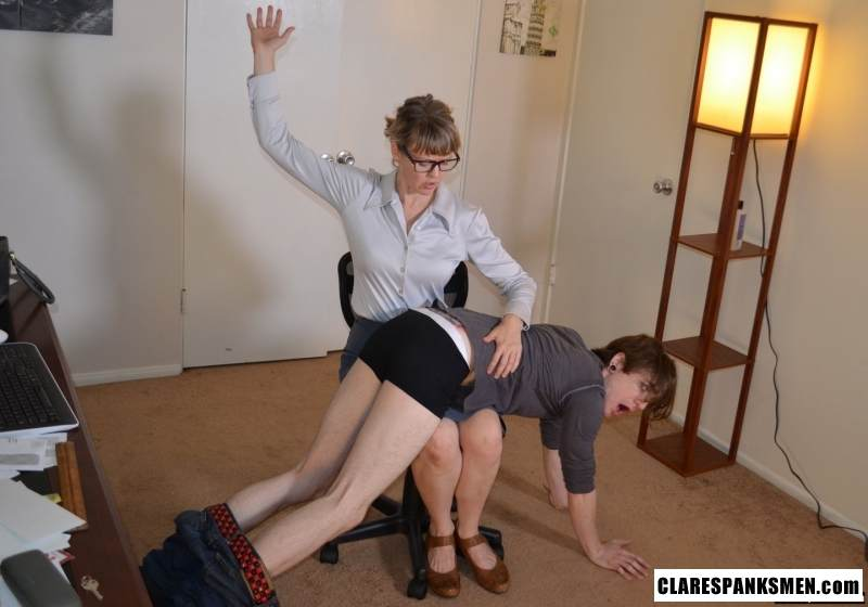 Picture #6 of Office dude is getting spanked OTk by the strict lady boss for browsing internet at working place