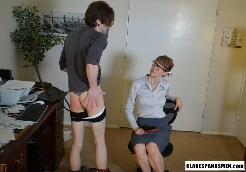 Picture #16 of Office dude is getting spanked OTk by the strict lady boss for browsing internet at working place