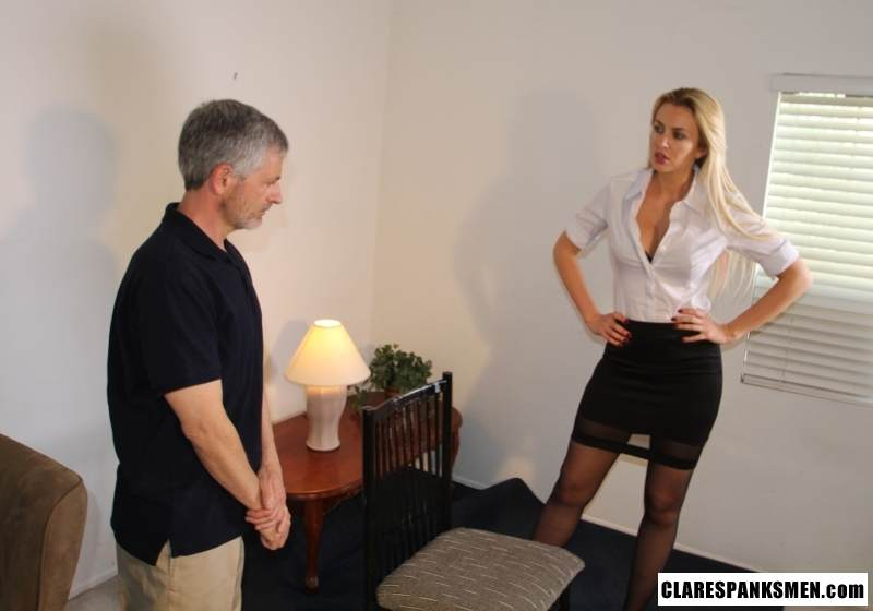 Picture #1 of Enjoy the finest moments of your life when dream blond is pulling your pants down for spanking
