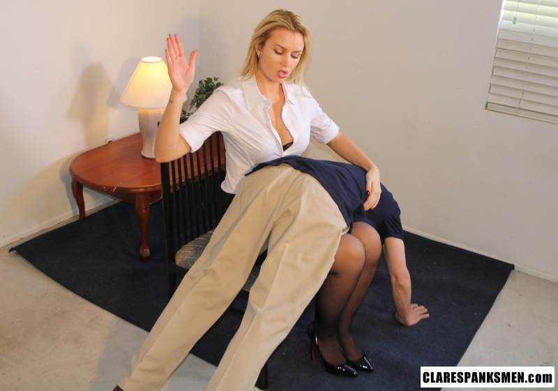 Picture #3 of Enjoy the finest moments of your life when dream blond is pulling your pants down for spanking