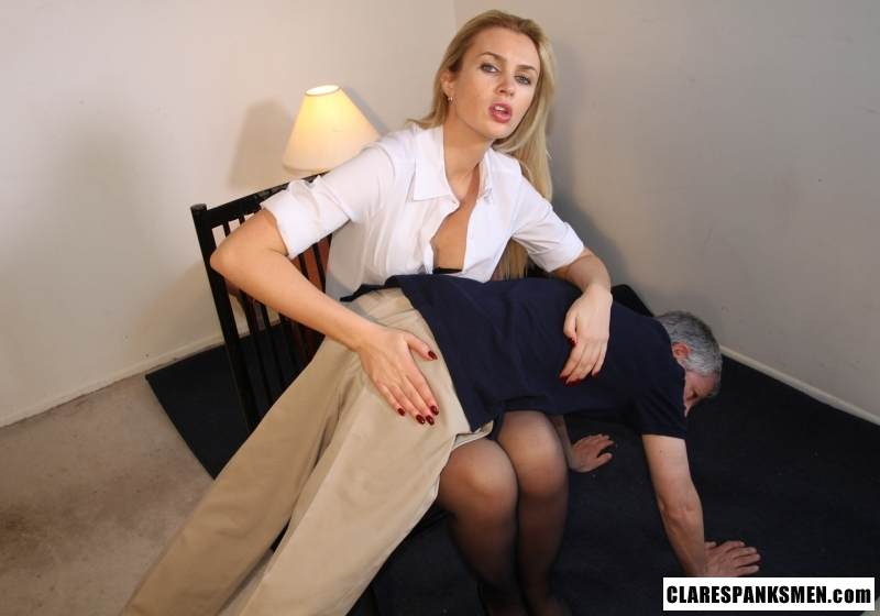 Picture #4 of Enjoy the finest moments of your life when dream blond is pulling your pants down for spanking