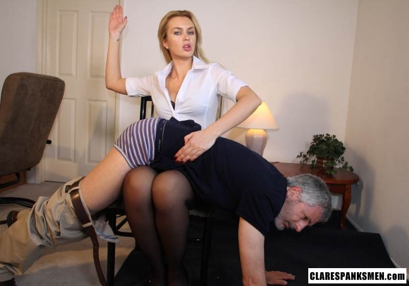 Picture #9 of Enjoy the finest moments of your life when dream blond is pulling your pants down for spanking