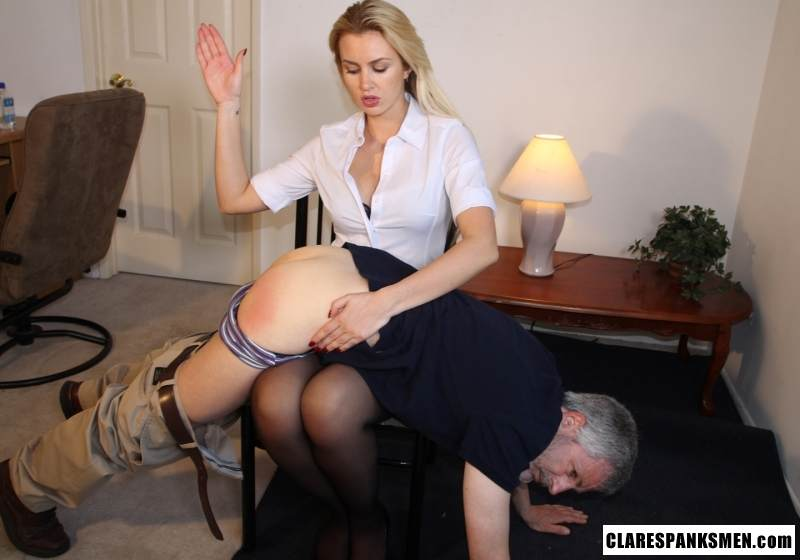 Picture #12 of Enjoy the finest moments of your life when dream blond is pulling your pants down for spanking