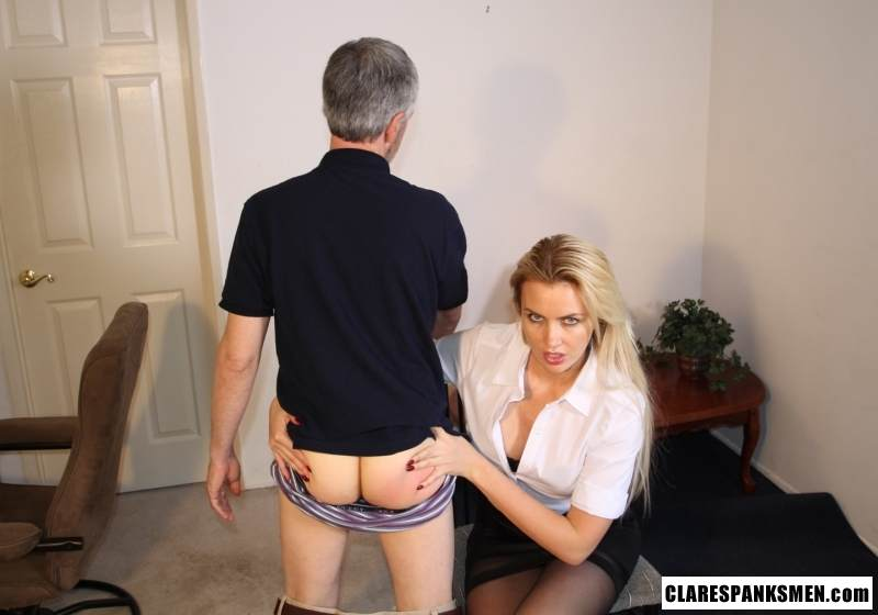 Picture #14 of Enjoy the finest moments of your life when dream blond is pulling your pants down for spanking