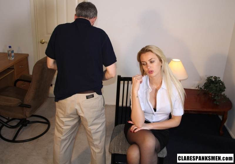 Picture #16 of Enjoy the finest moments of your life when dream blond is pulling your pants down for spanking