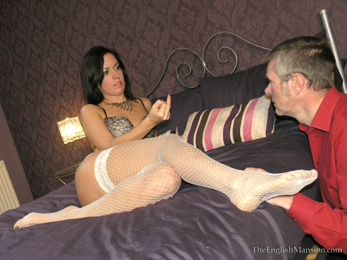 Picture #1 of Wife is turning hubby into a cuckold and laking him suck lover's cock