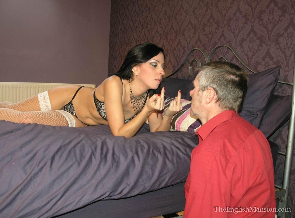 Picture #2 of Wife is turning hubby into a cuckold and laking him suck lover's cock