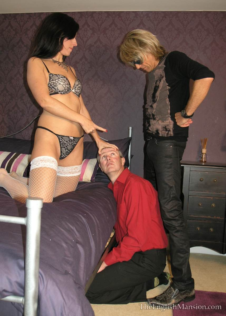 Picture #13 of Wife is turning hubby into a cuckold and laking him suck lover's cock
