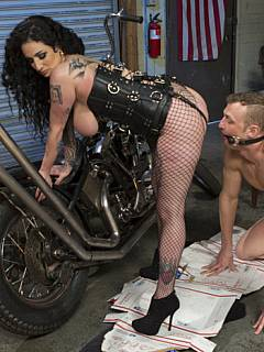 Bondage and anal insertions are the basic things busty whore starts femdom training with