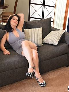 It is a pleasure - to get spanked OTK by a sexy MILF brunette like this one: her palm feels so nice slapping your ass