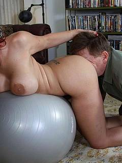 The best place a man ca bury his face into is in between ass cheeks of busty MILF dominatrix