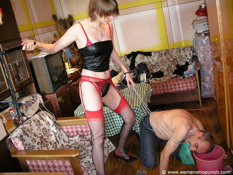 Picture #7 of Bitchy woman assigned dude two tasks: to wash her shoes and to lick her pussy afterwards