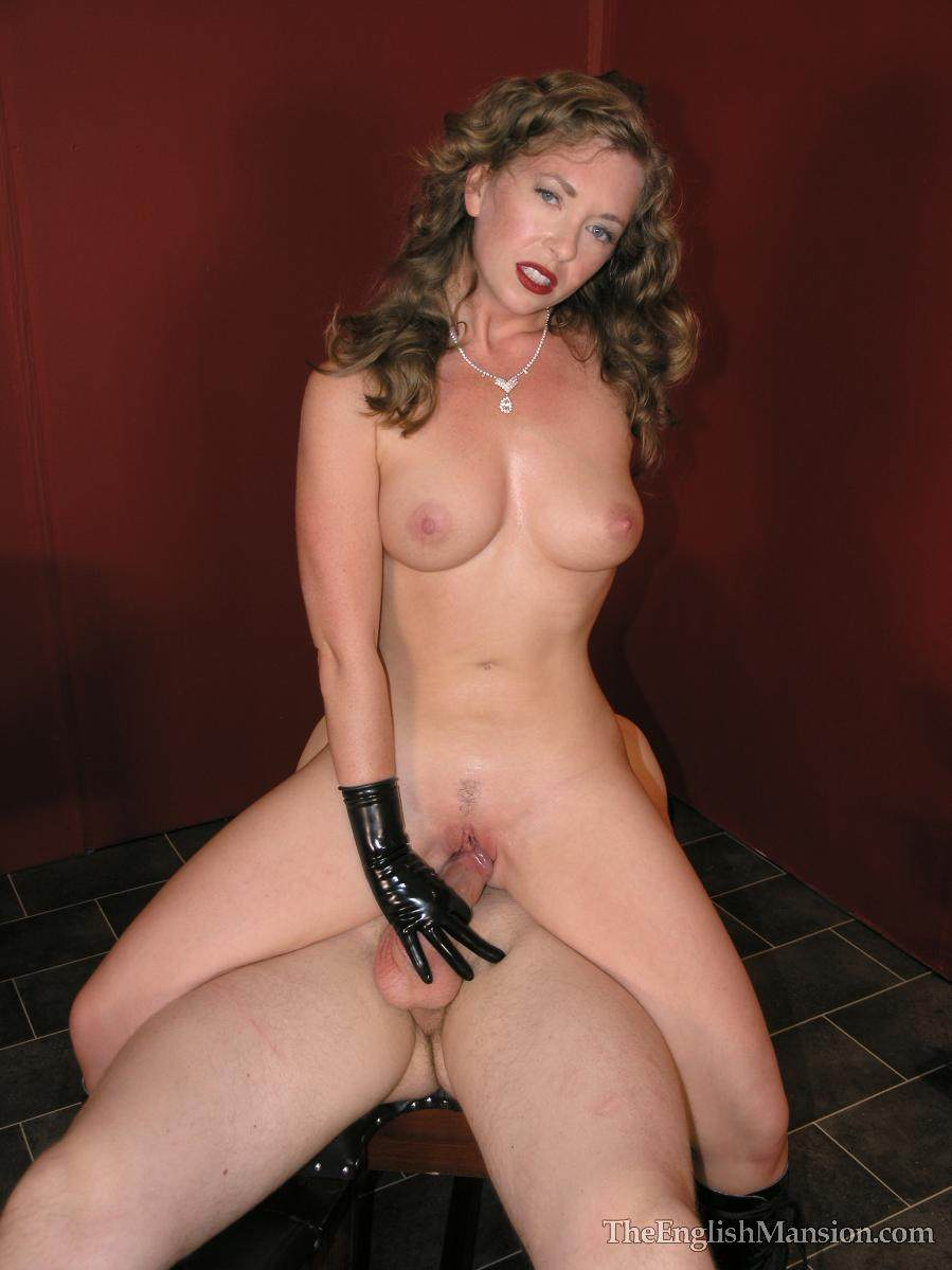 Picture #15 of Nude dominatrix is doing the tease with her wet pussy: rubbing penis hard but denying possible orgasms