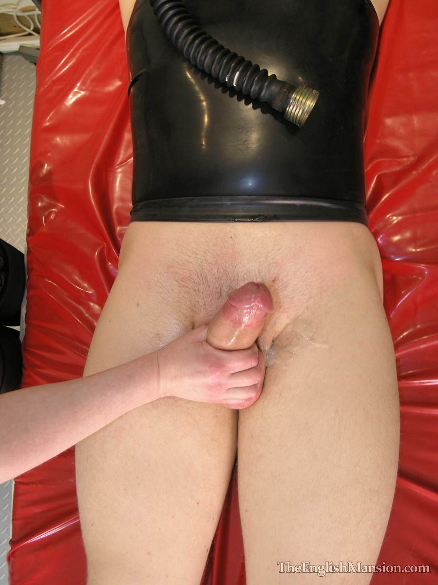 Picture #14 of Medical fetish mistress is keeping male cuffed to bed posts when she is fucking him with her cunt and licking cock but not allowing to cum