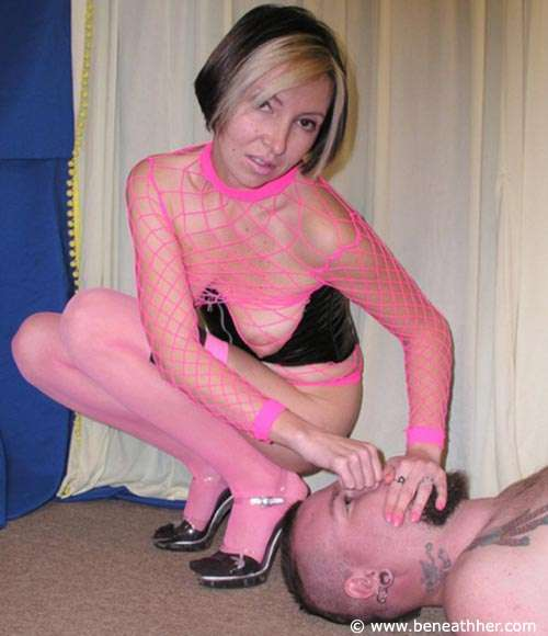 Picture #6 of Leggy MILF in pink makes the man feel her pussy and ass by sitting on him