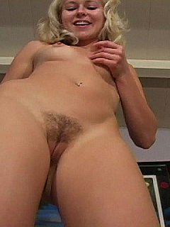 Sweet blond is going to tease you with the sight of her pussy. Slaves like you is only allowed to lick it with no chances of fucking!