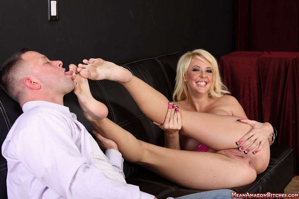 Picture #9 of Pole dancer is seducing a guy with her big boobs, tasty pussy and sexy feet he heeds to worship