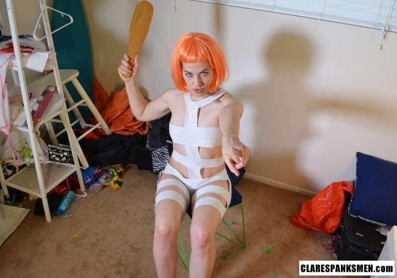 Picture #13 of Leeloo from The Fifth Element movie turns out to be an avid femdom spanking fan