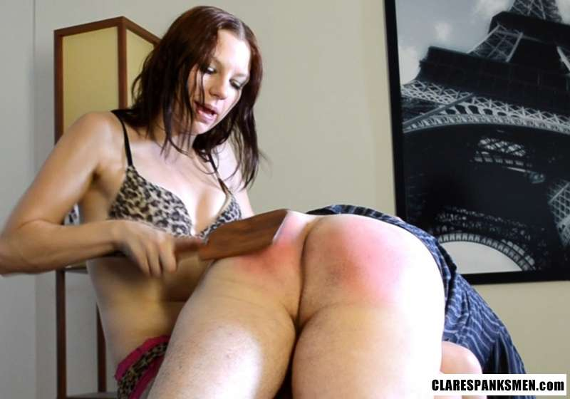 Picture #10 of The kinkiest way for a man to be punished is when sexy girl in lingerie spanks you over the knee