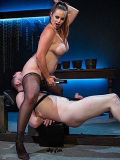 His penis is going to be teaed and tortured to the limit when plump dominatrix is going to put bizarre femdom plan in use