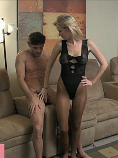 Slave is going to beg mistress for a chance to cum but only get bunch of cock teasing and balls kicking instead