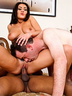 Hot wife wants her husband to have as much fun fucking stranger as she does
