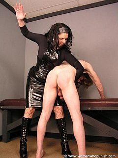 Paddling and spanking a man is the natural way for dominant women to express her anger and show slave his place