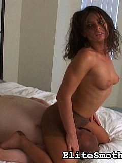 Beautfiul mistress is making facesitting more exciting by wearing tan pantyhose