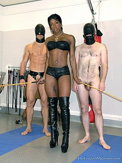 lack beauty is providing white slaves with healthy femdom style physical activity